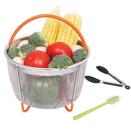 MAXROCK Steamer Basket for Instant Pot Accessories 5/6/8 qt,Strainer and Insert fits InstaPot Pressure Cooker/Ultra, Basket for Veggies,Fruits,Meats,etc