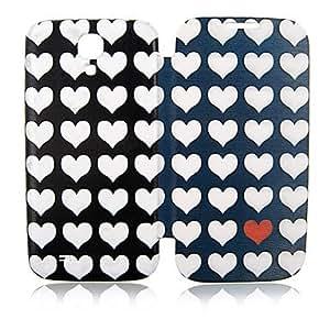 ZXM-Amor del Corazón Lleno de cuero para Samsung Galaxy Cuerpo S4 i9500