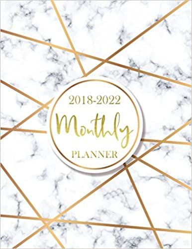 2018 - 2022 Monthly Planner: 60 Months Calendar, Monthly ...