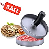 Stuffed Burger Press Patty Maker Hamburger - Niviy 2018 New Design Aluminum Non-Stick Burger Mold for Beef, BBQ Grill - Essential Kitchen & Grilling Accessories