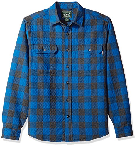 Blue Uomo Cool Double Da Bottoni Valley Cloth Shirt Woolrich Plaid Quilted Maglia Old Con OqZw5Wg