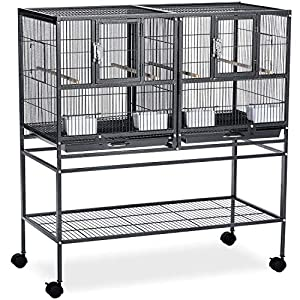 Prevue Pet Products Hampton Deluxe Divided Breeder Cage System with Stand 44