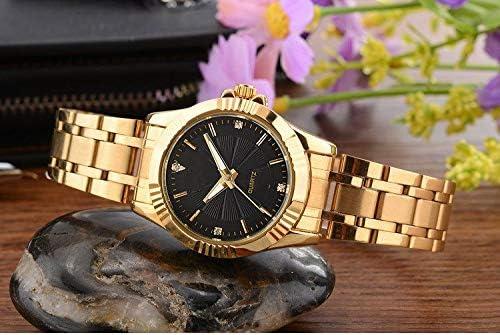 HZBIOK Orologi Da Donna Top Fashion Brand Luxury Orologi Donna Golden Watch Casual Orologio Da Polso Al Quarzo Impermeabile Orologio Da Polso Femminile Per Femminile Black Dial