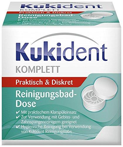 Kukident Reinigungsbad-Dose, 4er Pack (4 x 1 Stück)