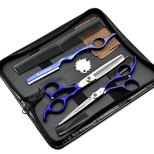 6'' japan hair scissors HT9119 teflon shears cheap hairdressing scissors barber thinning scissors golden screw cutting scissors ltd