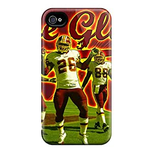 Protective Hard Cell-phone Cases For Iphone 4/4s With Provide Private Custom Lifelike Washington Redskins Pattern MansourMurray