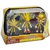 Sonic The Hedgehog - Super Pack with 3 Super Sonic,Super Silver, Super Shadow & Chaos Emeralds