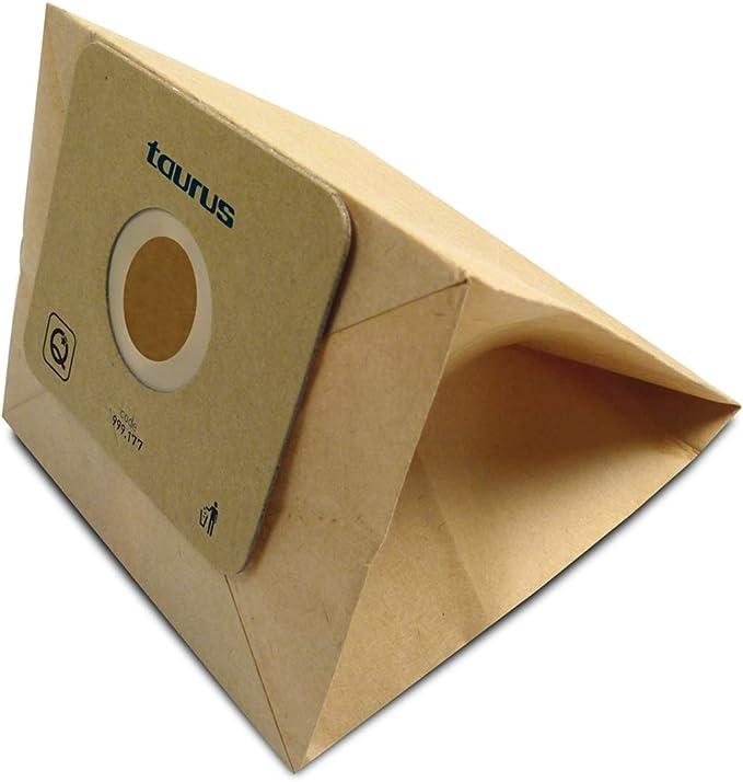 Taurus 999177000 Paquete de 5 bolsas de papel ECO para aspiradores trineo de 4 litros de capacidad, Paper: Amazon.es: Hogar