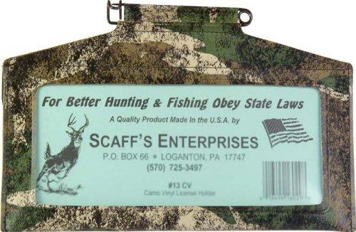 SCAFF'S ENTERPRISES Vinyl License Holder, Camouflage