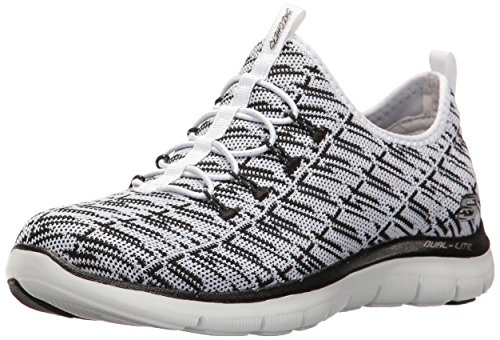 Skechers Sport Women's Flex Appeal 2.0 Insight Sneaker,White,9 M US