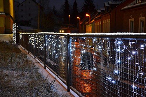 Nipach Gmbh 144 Led Lichterkette Eisregen Eiszapfen Warm Weiß Außen