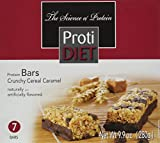 ProtiDiet Crunchy Cereal Caramel Bar - 9.9 oz - 7 Bars