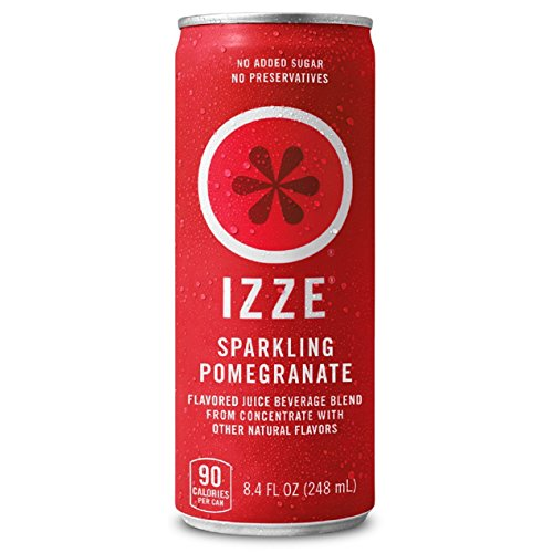 IZZE Sparkling Juice, Pomegranate, 8.4 oz Cans, 12 Count (Packaging may vary)