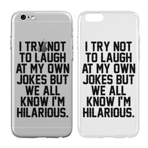 Case for iPhone 7 – Cream Cookies – Ultra Slim Hard Plastic Cover Case – Funny Quotes Case – I'M Hilarious – Typography Pattern Case