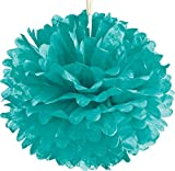 Luna Bazaar Tissue Paper Pom Pom (15-Inch, Robin Egg) - For Baby Showers, Nurseries, and Parties - Hanging Paper Flower Decorations