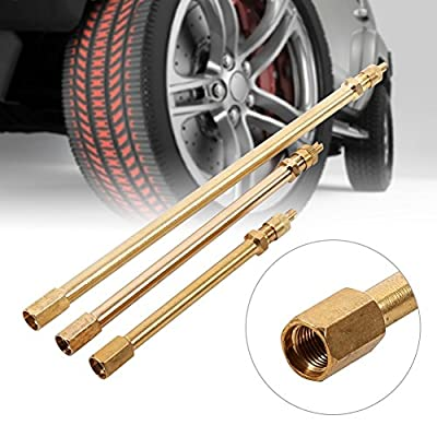 Valve Extension Brass Auto Tyre Valve Extender Stem Inflation Stright Pole (Size : 200mm): Automotive
