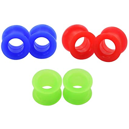 Dilatador de oreja de silicona en 3 colores de Longbeauty (de 3 a 25 mm)