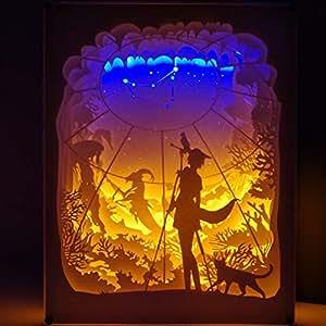 Amazon.com: Dergo ☀ Lámpara de papel para tallar, lámpara ...