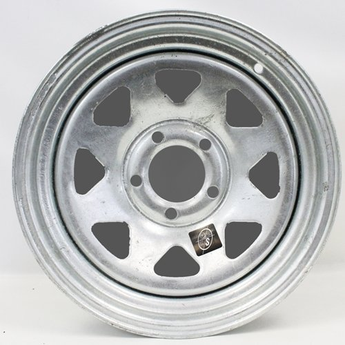 15x6 Galvanized Spoke Trailer Wheel 5-4.5'' Bolt Circle