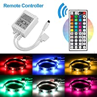 Goodtechnical RGB Led Strip Controller RGB LED Flexible Strips Controller Led Controller IR Remote Controller 12V 6A 44 Keys Wireless Dimmer Control for 5050 3528 RGB LED Light Strip