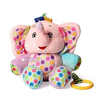 BeesClover ?Carino Musicale Peluche Infantile Neonato Bambino Morbido educativo Comfort Culla appesa Giocattoli per i Neonati Regalo dei Bambini Pink Elephant
