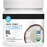 Amazon Brand - Happy Belly Organic Virgin Coconut Oil, 15 ounce