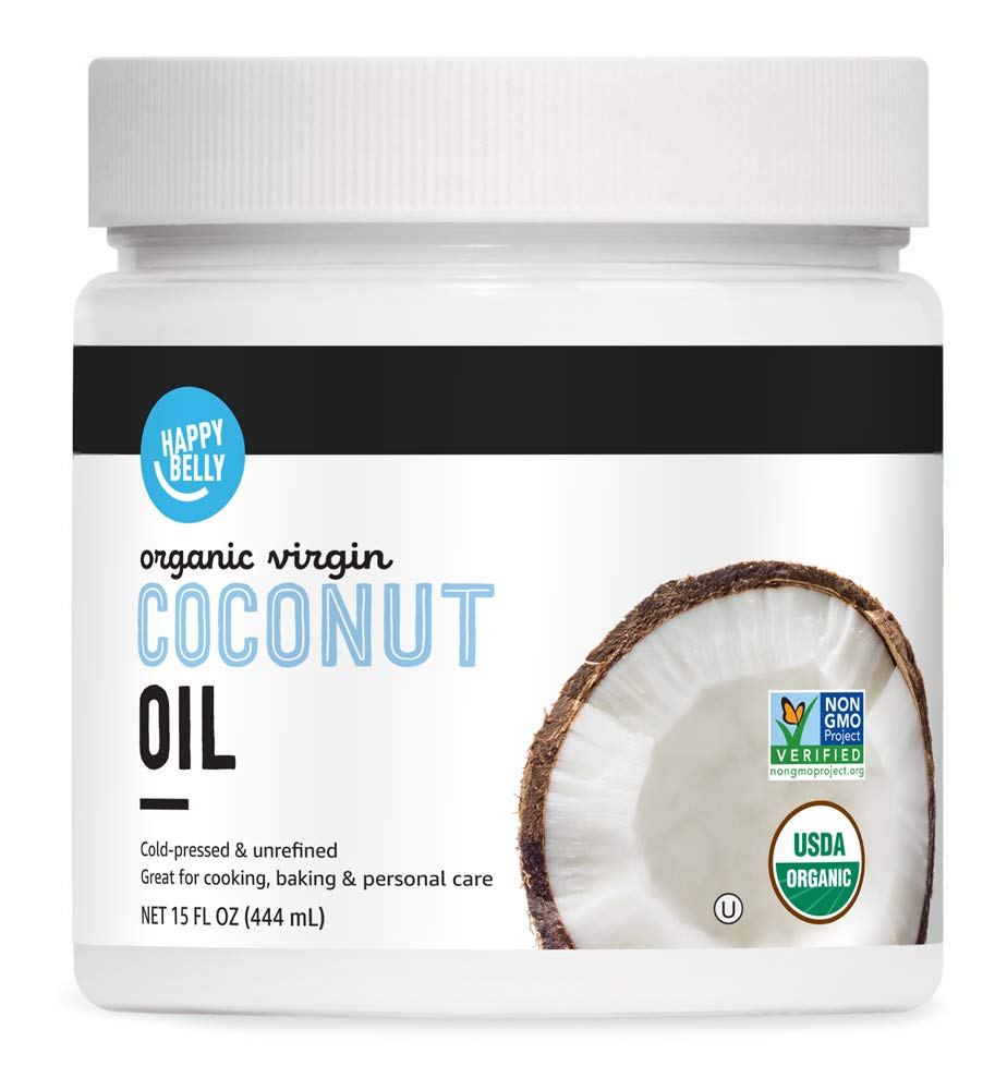 Amazon Brand - Happy Belly Organic Virgin Coconut Oil, 15 ounce