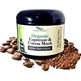 Organic Caffeine Face Mask with Espresso Coffee & Cocoa 2 oz – Moisturize and Exfoliate Skin – Reduce Pores and Wrinkles | Brightening Face Mask For All Skin Types – Simply Radiant
