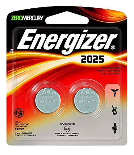 - Energizer - Lithium Batteries 3.0 Volt For CR2025/DL2025/LF1/3V (2 Pack, Total 4)