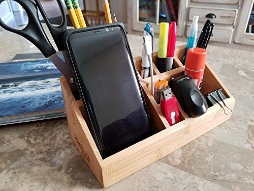 Splashsoup Small Multifunctional Bamboo Organizer Desk