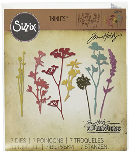 Sizzix 661190 Wildflowers Thinlits Die Set by Tim Holtz (7/Pack) -