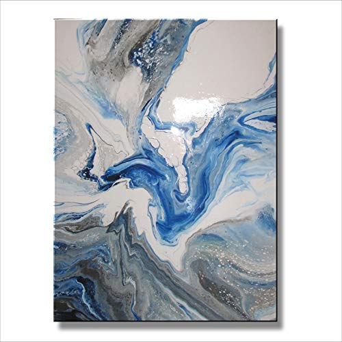 Eloise World Studio Abstract Modern Canvas Painting Limited Edition Giclee Contemporary Wall Art Framed 48 x 36 x 1.5 inch Resin Coated -