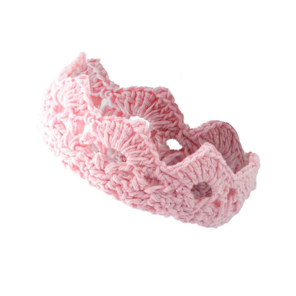 Kids Baby Girl Crown Knit Hairband Costume Photography Prop Princess Headband