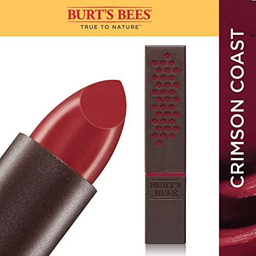 Burt's Bees 100% Natural Moisturizing Lipstick, Crimson Coast, 1 Tube