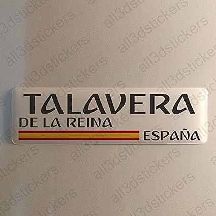 Pegatina Talavera de la Reina España Resina, Pegatina Relieve 3D ...