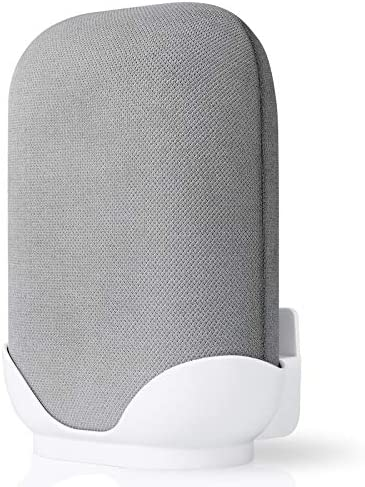 ZYF Wall Mount Holder for Google Nest Audio, Built-in Cable Management, Space-Saving Accessories Bracket Stand for Google Nest Audio Smart Speaker – White