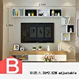 HOMEE Wall Shelf Tv Backdrop Creative Wall Hanging Storage Shelves Shelf Shelf Wall Decoration (Multiple Styles Available),B