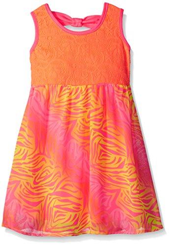 Limited Too Little Girls' Chiffon Dress with Zebra Print Skirt