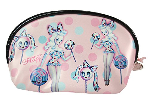 Fluff Cute Pin up Art - Variety Pin up Tattoo Girl Travel Makeup Bag - Cosmetic Pouch (Cotton Candy (Pin Up Dolls Tattoos)