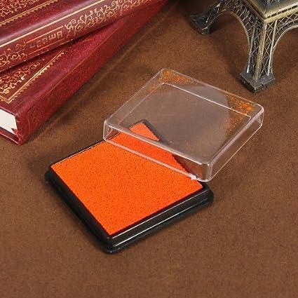 Ssforiesun New creative color Inkpad fai da te semplice quadrato Inkpad 4 cm*4 cm 4cm*4cm red