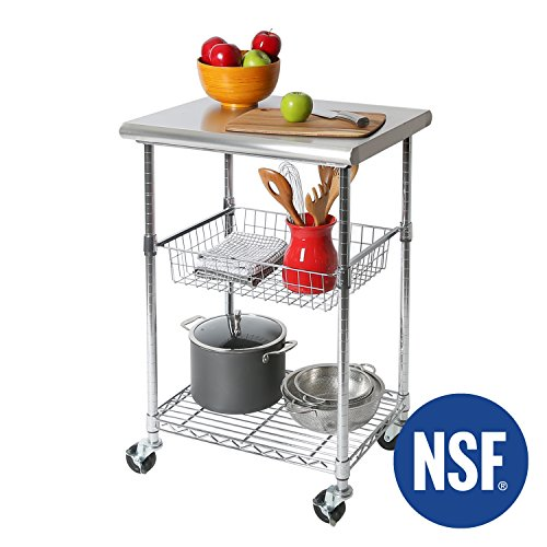 Commercial Kitchen Cart Cutting Professional Table
