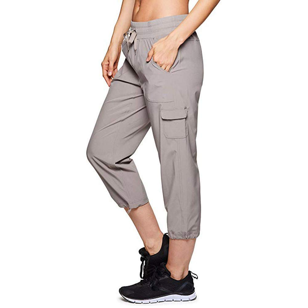 Nevera Womens Casual Comfy Elastic Waistband Drawstring Pants Lightweight Baggy Trousers
