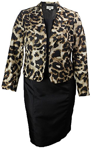 Le Suit Women's Safari Nights Animal Print Jacket Dress (24W) (Safari Dress Jacket)