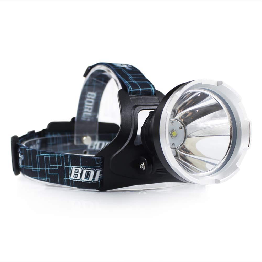 BORUIT B10 5000 Lumen Impermeabile Lampada Frontale con luce bianca, XML-L2 3 Modalità Micro USB Lampada Frontale per l'escursione del campeggio Arrampicata Ciclismo luce di pesca di sicurezza, 18650 PCB incluso (Super Big Lamp)
