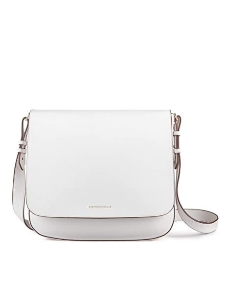 design senza tempo f3d6e 90f61 Emporio Armani - Borsa a tracolla, Unica, Bianco: Amazon.it ...