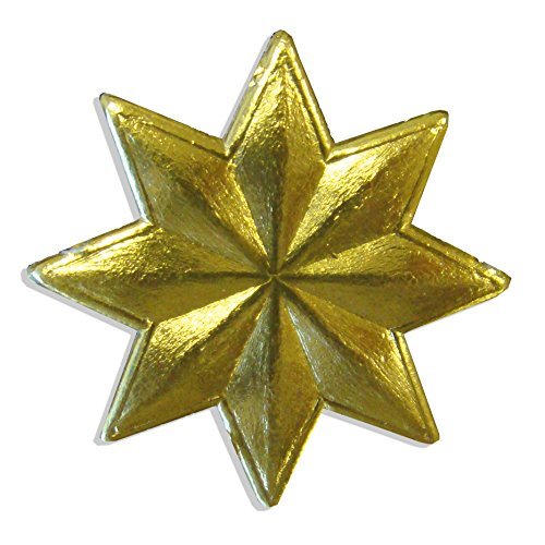 Kunze 144-Piece Dresden Small Stars, Gold