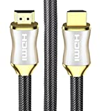 POLOK HDMI Cable 3 Feet - HDMI 2.0 (4K) Ready - 18Gbps - Nylon Braided - Gold Plated Connectors - CL3, Ethernet, ARC, HDCP 2.2, 2160p HD 1080p 3D Xbox PS3