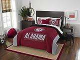 Alabama Crimson Tide - 3 Piece FULL / QUEEN SIZE Printed Comforter & Shams - Entire Set Includes: 1 Full / Queen Comforter (86'' x 86'') & 2 Pillow Shams - NCAA College Bedding Bedroom Accessories