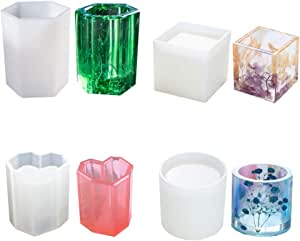 ESA Supplies Flower Pot Molds Pen Containers Mold for Resin Casting Resin Silicone Molds for Candle Holder Making Large Size Resin Art Molds