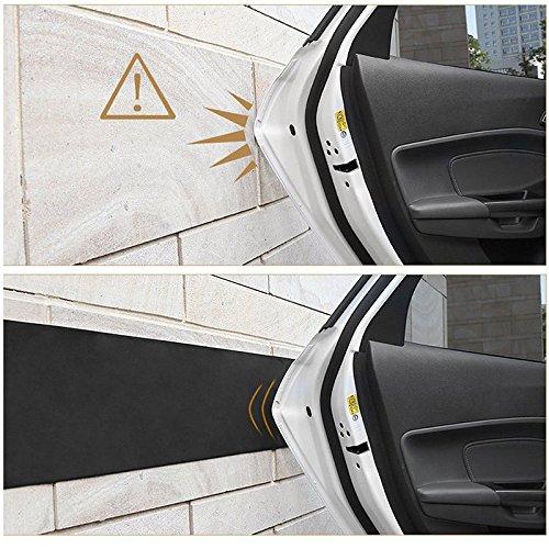 Houkiper 2PCS Car Door Protector Garage Rubber Wall Guard Bumper Safety Parking